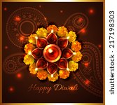 vector happy diwali background | Shutterstock .eps vector #217198303