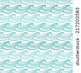seamless abstract sea vintage... | Shutterstock .eps vector #217203583