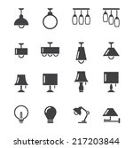 lamp icon | Shutterstock .eps vector #217203844
