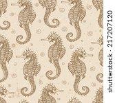 vintage seamless background... | Shutterstock .eps vector #217207120