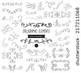 set of vector graphic elements... | Shutterstock .eps vector #217211068