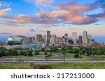 Panorama Of Denver Skyline Long ...