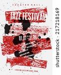 vector jazz music poster... | Shutterstock .eps vector #217218169