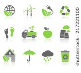 ecology icons | Shutterstock .eps vector #217221100