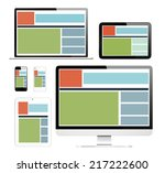 3d collection of digital devices | Shutterstock . vector #217222600