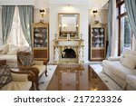 interior of a living room with... | Shutterstock . vector #217223326