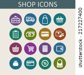 shop icons for web | Shutterstock .eps vector #217227400