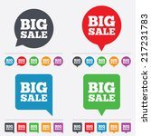 big sale sign icon. special... | Shutterstock .eps vector #217231783
