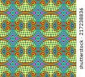 seamless geometry vintage... | Shutterstock .eps vector #217238836