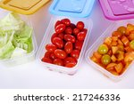 Plastic Container With Food