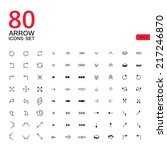 arrow sign icons set. vector...