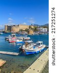 boats in a port in kyrenia ... | Shutterstock . vector #217251274