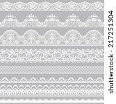 Set Of White Lace Borders...