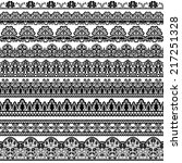 set of black lace borders... | Shutterstock .eps vector #217251328