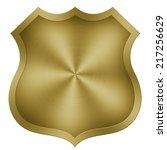 gold plate background texture | Shutterstock . vector #217256629