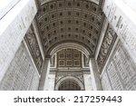 beautiful view of the arc de... | Shutterstock . vector #217259443