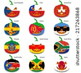 set pumpkins for halloween as a ... | Shutterstock .eps vector #217263868