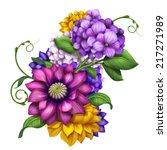 Colorful Floral Composition...