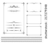 vector set vintage calligraphic ... | Shutterstock .eps vector #217279348