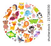 save animals emblem  animal... | Shutterstock .eps vector #217280530