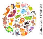 save animals emblem  animal... | Shutterstock .eps vector #217280530