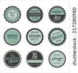 premium quality retro labels... | Shutterstock .eps vector #217280980