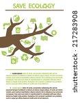 ecology tree vector infographics | Shutterstock .eps vector #217283908