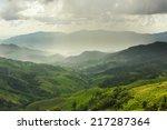 landscape with green corn field ...   Shutterstock . vector #217287364