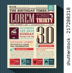 happy birthday party card... | Shutterstock .eps vector #217288318