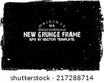 design template.abstract grunge ... | Shutterstock .eps vector #217288714