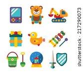 set of vector colorful kids... | Shutterstock .eps vector #217290073