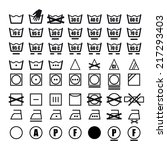 vector icon set of washing... | Shutterstock .eps vector #217293403