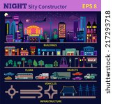 night city constructor. make... | Shutterstock .eps vector #217293718