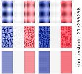 mosaic france flag set | Shutterstock .eps vector #217299298