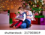 three happy children  brothers... | Shutterstock . vector #217303819