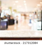 empty marble table and blurred... | Shutterstock . vector #217312084