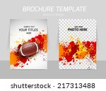 flyer template back and front... | Shutterstock .eps vector #217313488