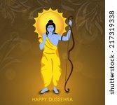 hindu mytholigical lord rama... | Shutterstock .eps vector #217319338
