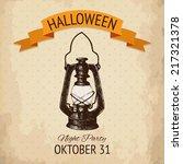 vector  halloween design with... | Shutterstock .eps vector #217321378