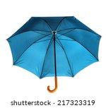 umbrella isolated against white ... | Shutterstock . vector #217323319