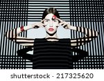 fashion girl on geometric