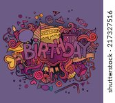 birthday hand lettering and... | Shutterstock .eps vector #217327516