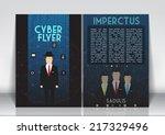 abstract flyer brochure design...   Shutterstock .eps vector #217329496