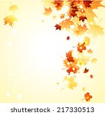 bright background with maple... | Shutterstock .eps vector #217330513