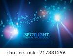 blue spotlight for your design. ... | Shutterstock .eps vector #217331596