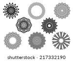 circle vignette lace ornaments... | Shutterstock .eps vector #217332190