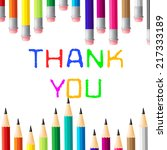 thank you meaning many thanks... | Shutterstock . vector #217333189