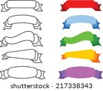 set of line and bold banner... | Shutterstock .eps vector #217338343
