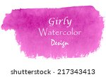 girly watercolor design for... | Shutterstock .eps vector #217343413