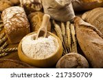 baked traditional bread  | Shutterstock . vector #217350709